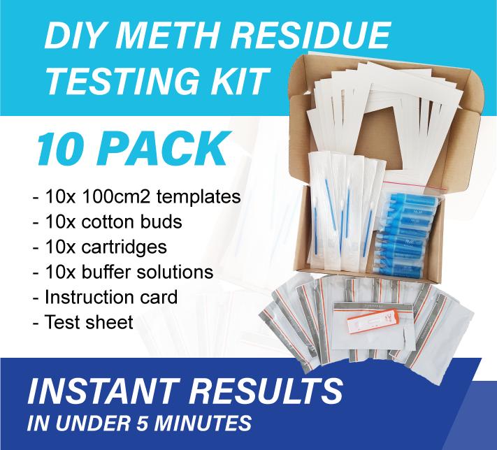 10 x Pack Meth Testing Residue DIY