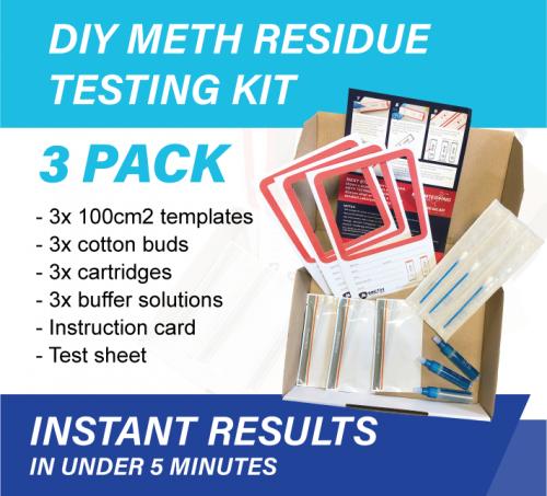3 x Pack Meth Testing Residue DIY
