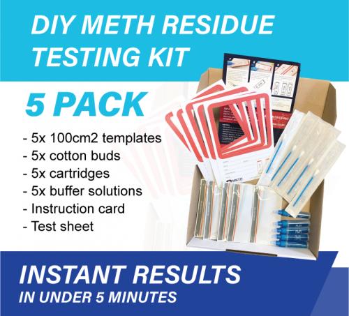 5 x Pack Meth Testing Residue DIY