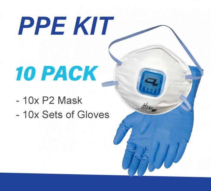 10 x Pack Meth Testing PPE kit