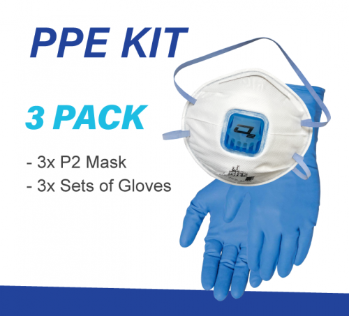 3 x Pack Meth Testing PPE kit